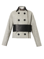 Atto Textured Wool Double Breasted Jacket