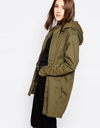Brave Soul Light Weight Parka Green