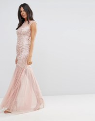Ax Paris Blush Sequin Bodice Chiffon Maxi Dress Blush Pink