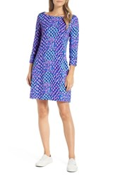 Lilly Pulitzer Sophie Upf 50 Shift Dress Royal Purple Toe In