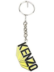 Kenzo Logo Keyring Yellow Orange