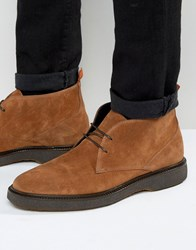 Asos Chukka Boots With Wedge Sole In Tan Suede Tan