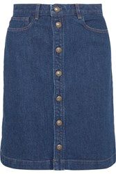 A.P.C. Atelier De Production Et De Creation Therese Denim Skirt Mid Denim