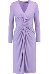 Raoul Gathered Stretch Satin Dress Purple
