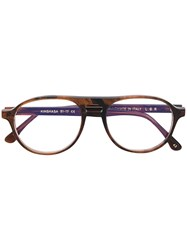 L.G.R Kinshasa Aviator Glasses Brown