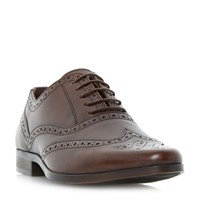 Howick Power Pointed Oxford Brogue Shoes Brown