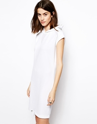 Noisy May Hooded Dress White