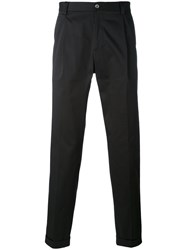 Dolce And Gabbana Cropped Chino Trousers Men Cotton Spandex Elastane 48 Black
