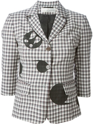 Golden Goose Deluxe Brand Checked Patch Blazer Multicolour