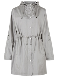 Windsmoor Hooded Parka Coat Light Grey
