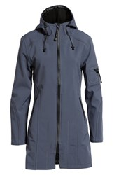 Ilse Jacobsen Rain 7 Hooded Water Resistant Coat Blue Grayness