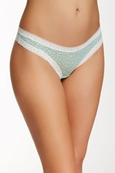 Kensie Lace Thong Green