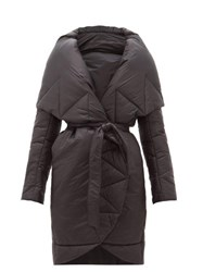 Norma Kamali Padded Shawl Lapel Technical Shell Coat Black