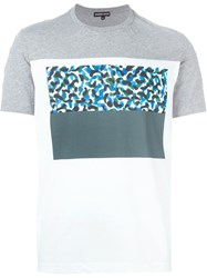 Markus Lupfer Printed Panel T Shirt Grey