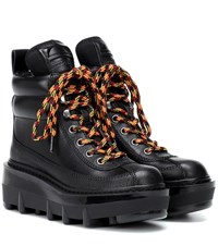 Marc Jacobs Shay Leather Hiking Boots Black