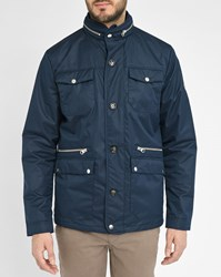 Knowledge Cotton Apparel Navy Two Buttons Blazer With Patch Pockets