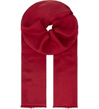 Max Mara Silk Scarf Red