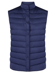 Max Mara Weekend Maxmara Creta Quilted Gilet China Blue