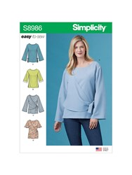 Simplicity 'S Easy To Sew Drape Blouse Sewing Pattern 8986