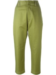 Golden Goose Deluxe Brand Cropped Trousers Green