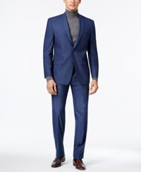 Marc New York By Andrew Men's Classic Fit Blue Neat Suit