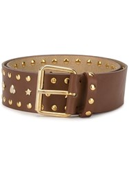 Paul And Joe Western Style Line Belt Brown