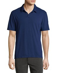 James Perse Cashmere Short Sleeve Polo Shirt Navy