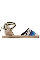Soludos Lula Lace Up Intarsia Knit Espadrilles Multi