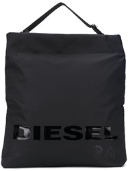 Diesel Printed Shopping Bag Black