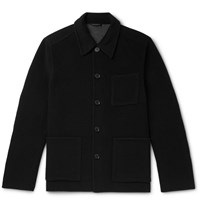 Mr P. Double Faced Wool Blend Overshirt Black