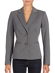 Lafayette 148 New York Ronnie Tailored Virgin Wool Jacket Rock