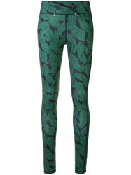 The Upside Foliage Print Leggings Green