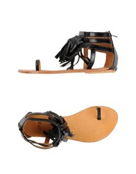 Jfk Thong Sandals Black