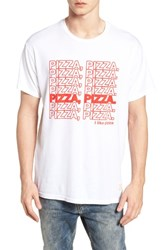 Retro Brand Pizza Pizza Graphic T Shirt White