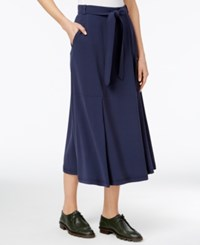 Max Mara Weekend Belted Midi Skirt Ultramarine