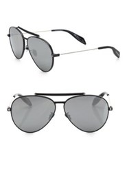 Alexander Mcqueen 62Mm Aviator Sunglasses Black