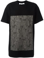 Individual Sentiments Square Print T Shirt Black