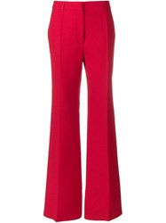 Valentino High Waisted Trousers Red