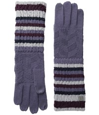 Smartwool Striped Chevron Glove Desert Purple Wool Gloves
