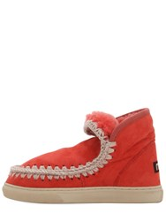 Mou 20Mm Mini Eskimo Shearling Boots Coral