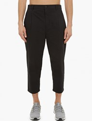 Helmut Lang Black Pleated Seersucker Trousers