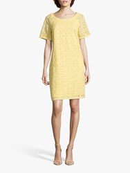 Betty Barclay Broderie Anglaise Cotton Dress Sunshine