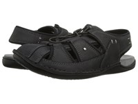 Hush Puppies Bergen Grady Black Waxy Leather Men's Sandals