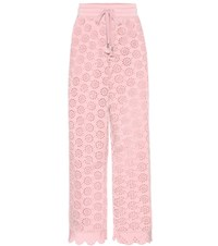 Fenty By Rihanna Embroidered Jersey Trousers Pink
