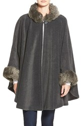 Women's Parkhurst 'Desmona' Faux Fur Trim Cape