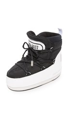 Moon Boots Msgm X Buzz Booties Black White