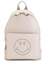 Anya Hindmarch 'Smiley' Backpack Grey