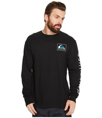 Quiksilver Hold Down Long Sleeve Tee Black Men's Long Sleeve Pullover