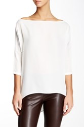 Analili Boatneck 3 4 Sleeve Hi Lo Blouse Beige