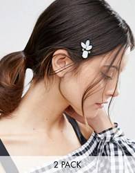 Asos Pack Of 2 Embellished Hair Clips Multi